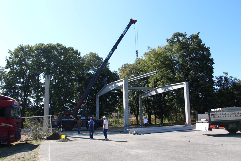 Construction of a gym in primary school in Tršić – Joint effort of private donor and City of Zvornik